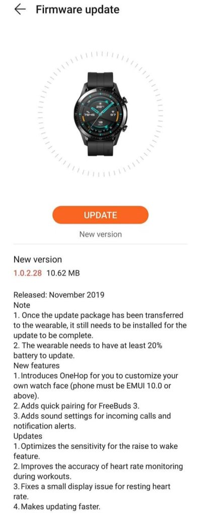Watch GT 2 Update