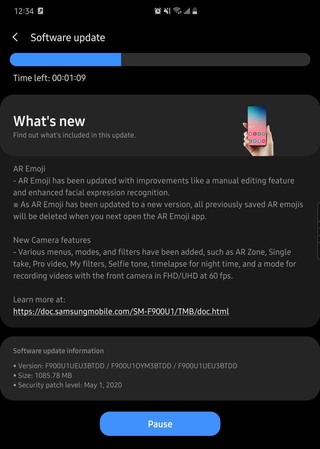 Galaxy Fold Update