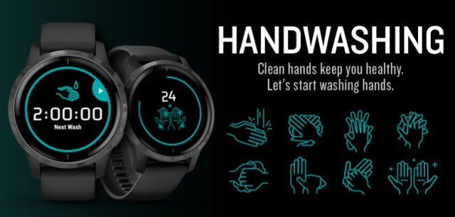 Garmin Hand Washing Widget