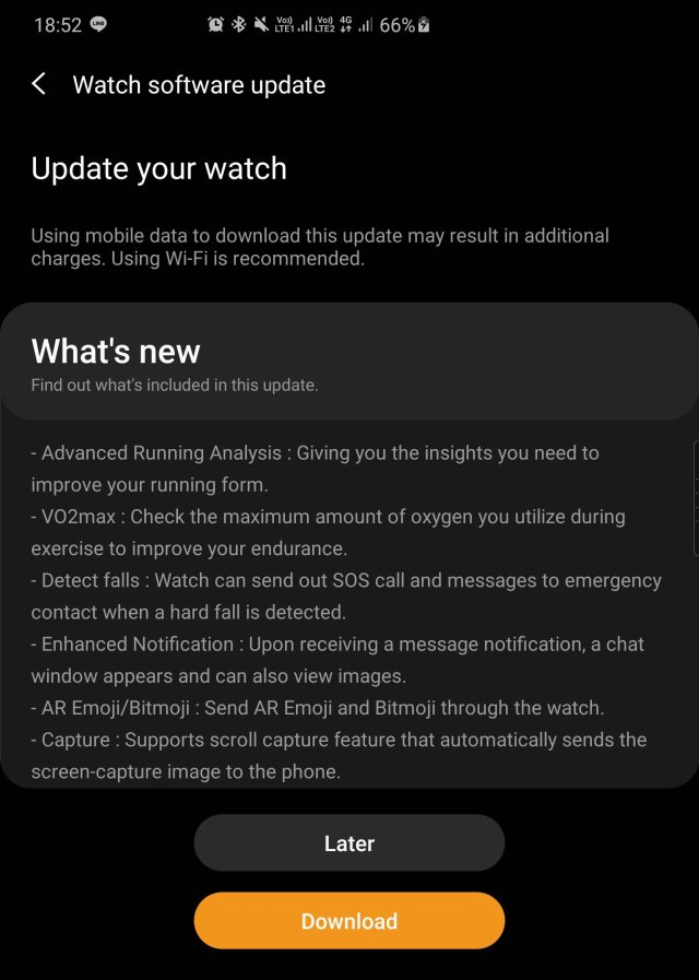 Galaxy Watch Active 2 Update