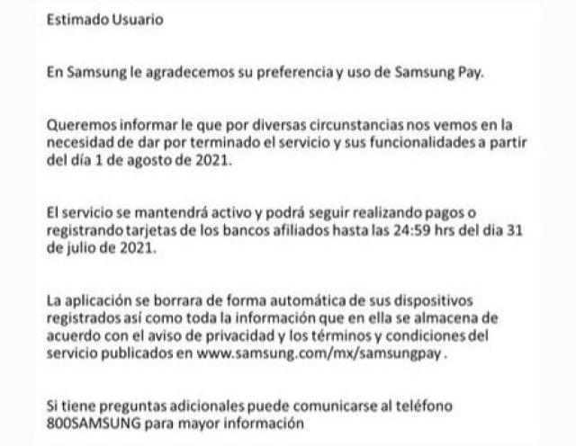 Samsung Pay Shut Down Mexico