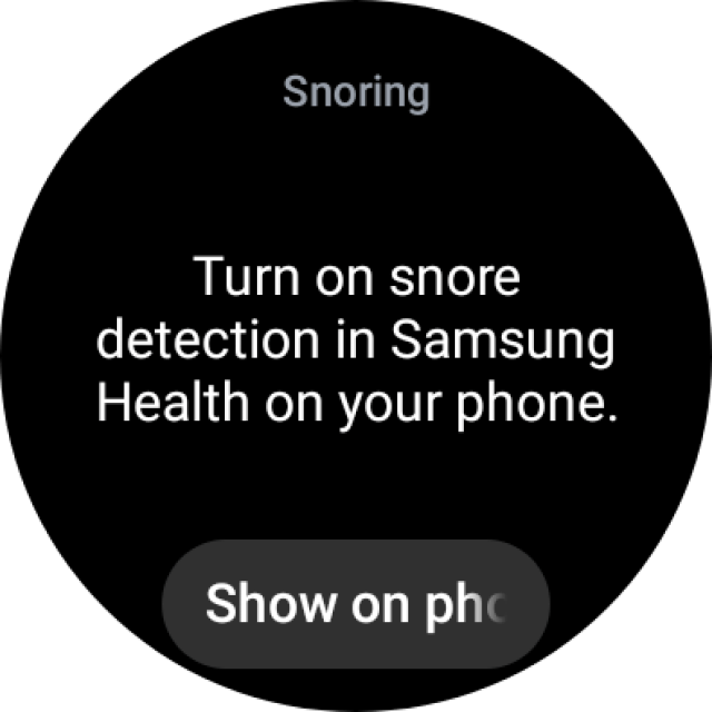 Snore Detection on Galaxy Watch 4