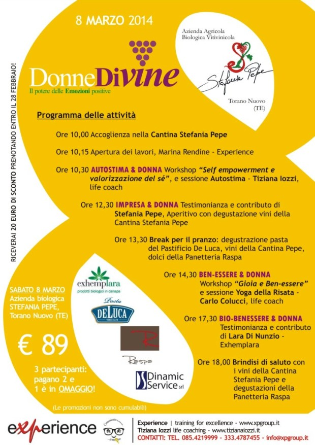 Donne Divine – 8 marzo 2014 – Cantina Stefania Pepe