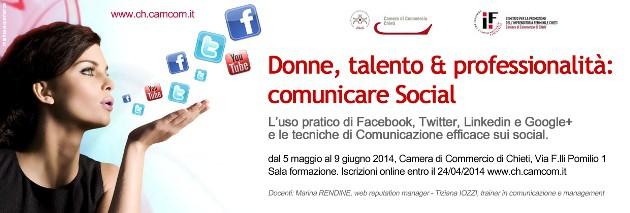 Donne, talento & professionalità: comunicare Social – Camera di Commercio di Chieti