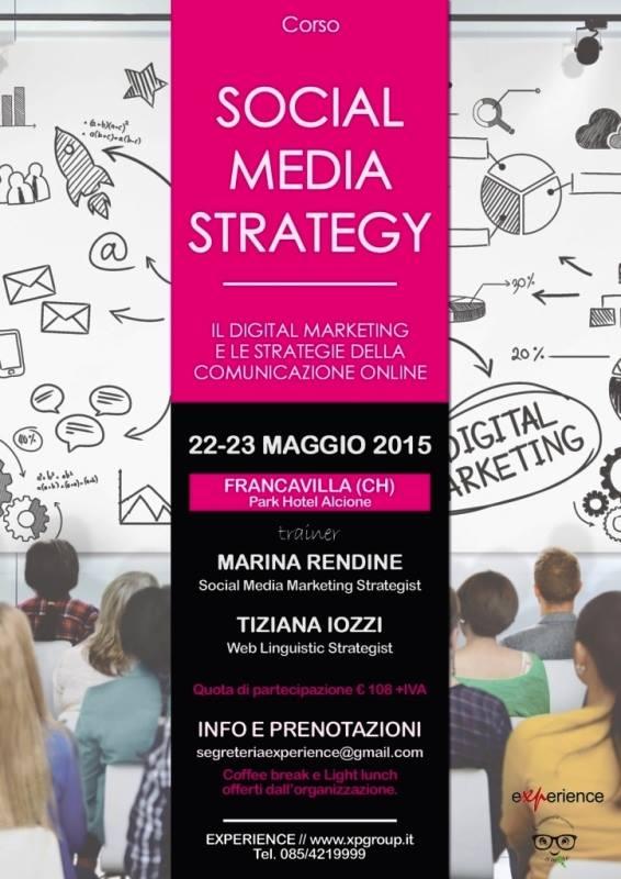 Corso SOCIAL MEDIA STRATEGY – 22/23 maggio a Francavilla (CH)