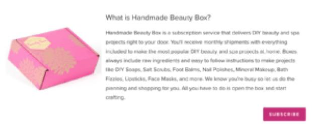 handmade beauty box example