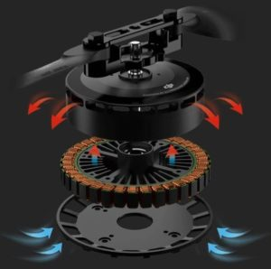 Drone motor cooling system from DJI e5000 propulsion system