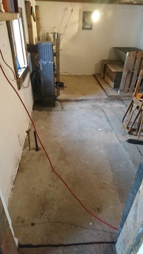 Gulvet klart for maling