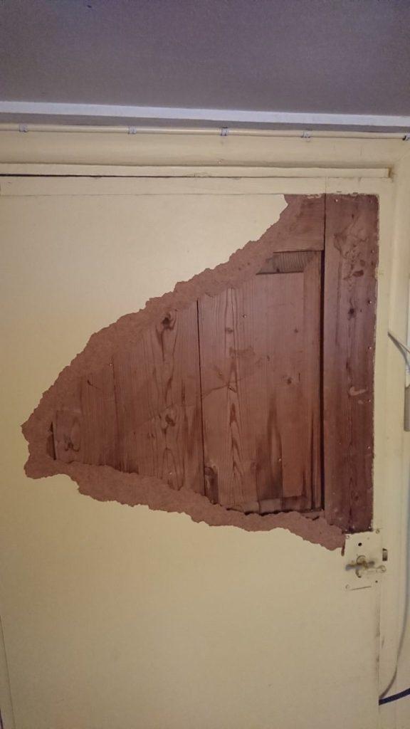 Dørbladet kommer fram.