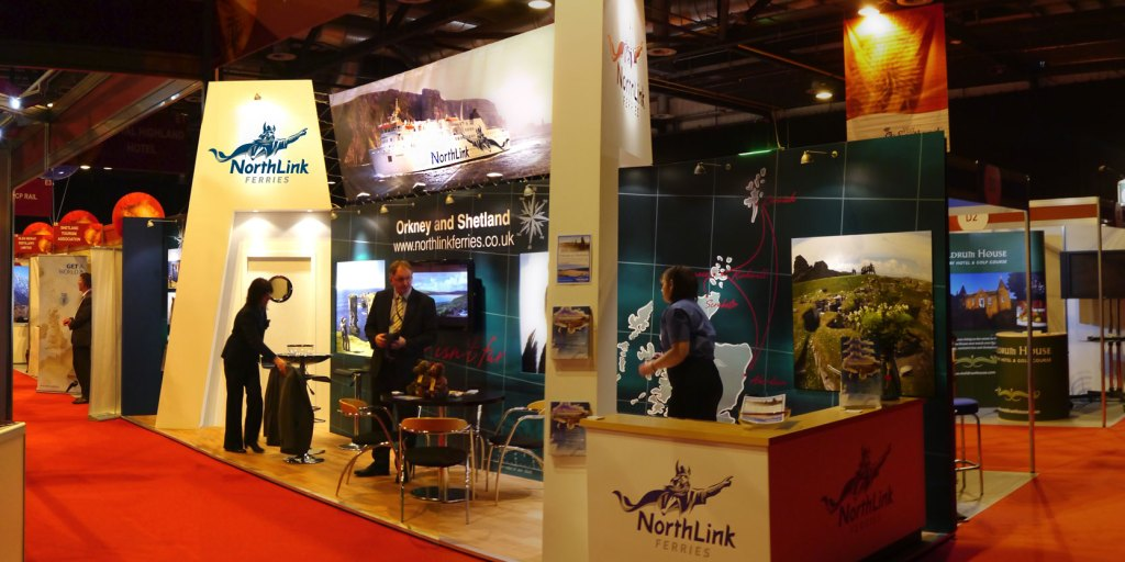 NorthLink Ferries travel trade stand