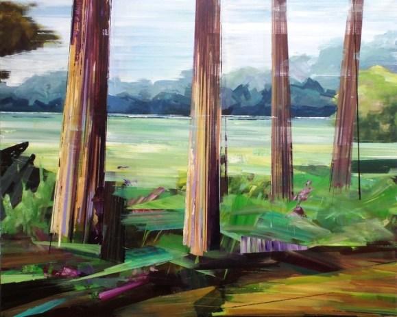 De picknickplek. 2015. acryl op linnen. 90 x 110 cm