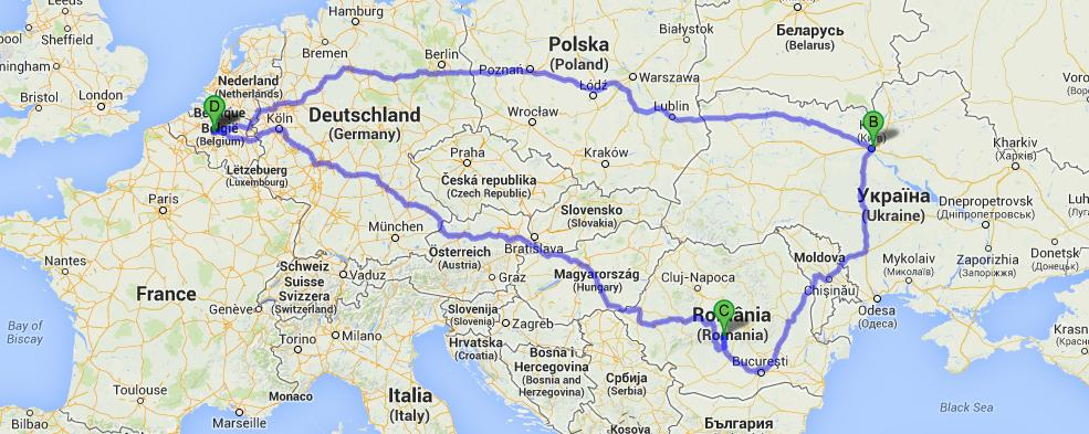 Next up: kiev, bucharest en transsylvanie