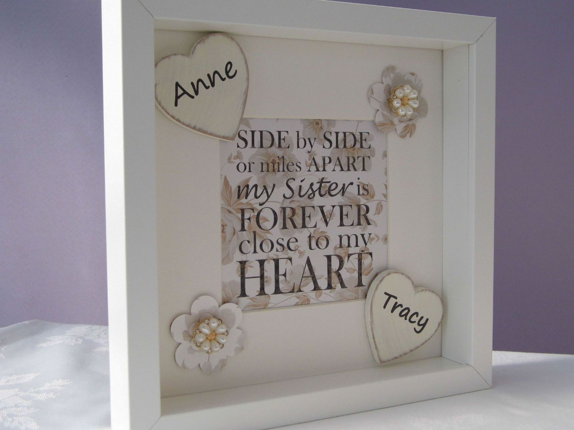 Personalised Sister Gift Frame