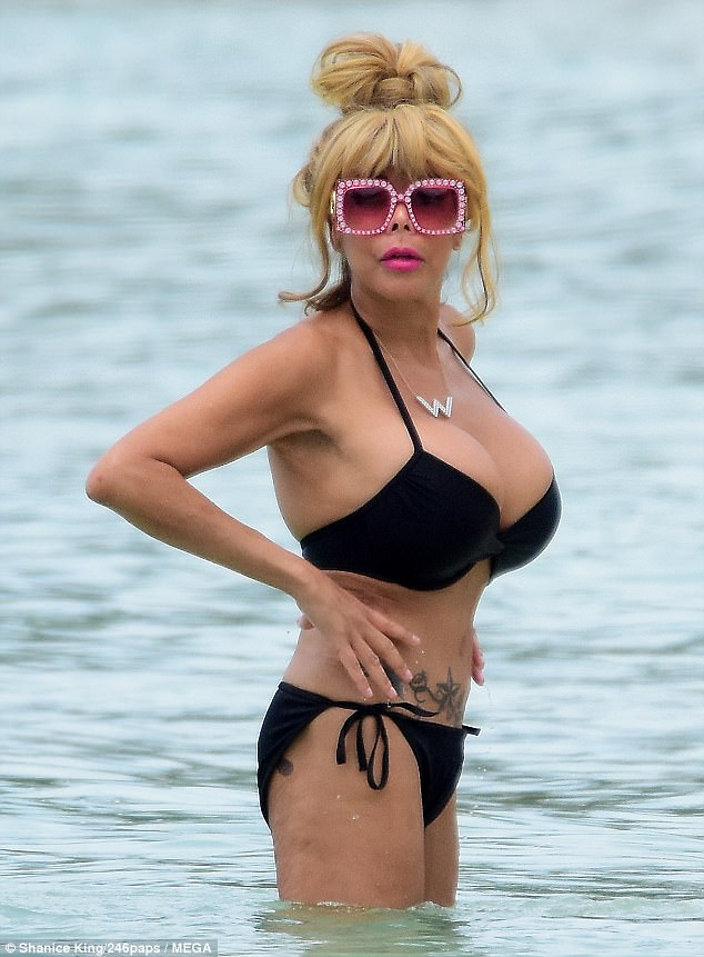 PICTURE EXCLUSIVE: Wendy Williams, 53, looks like a living Barbie doll as she cavorts in her bikini in Barbados over the weekend