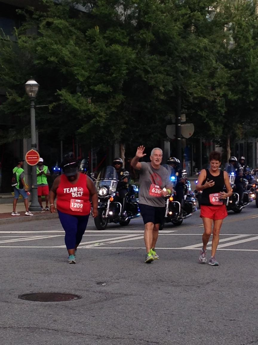 Atlanta's Finest 5k 2016 Police Escort Finish