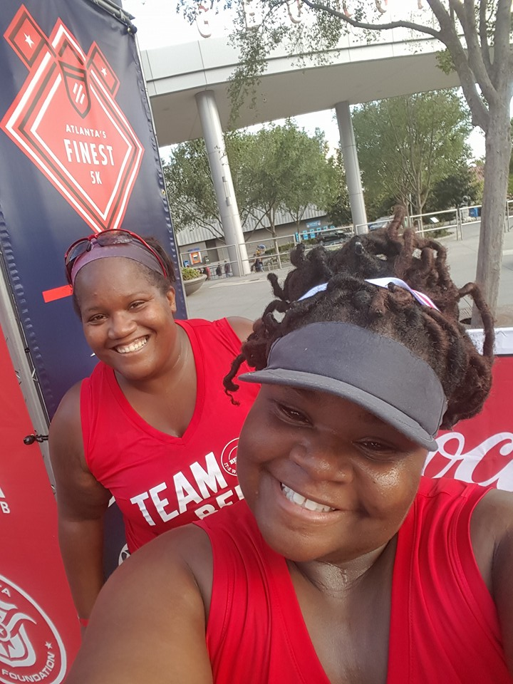 Adriane and me Atlanta's Finest 5k 2016