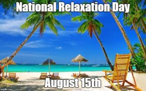 national relaxation day beach