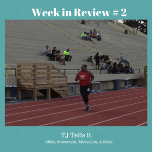 Woman running on track Week in Review #2