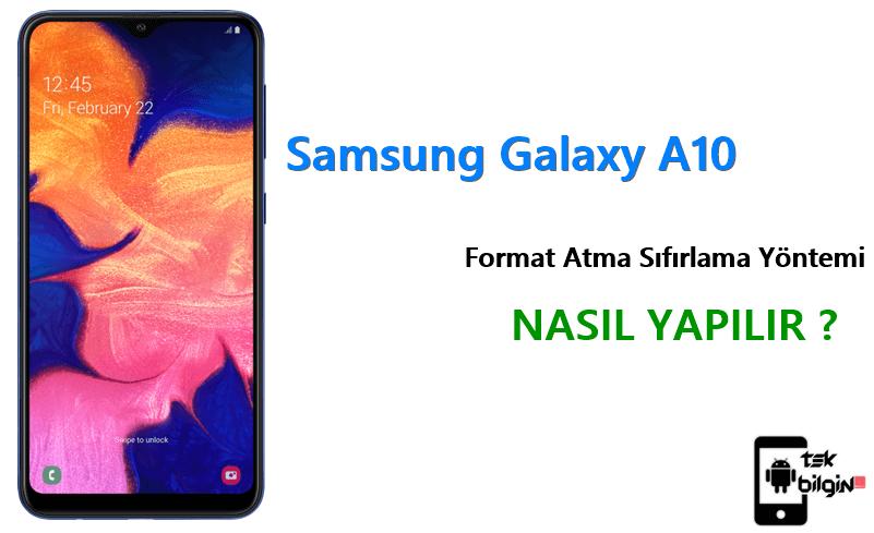 Samsung Galaxy A10 Format Atma Sıfırlama Yöntemi 23