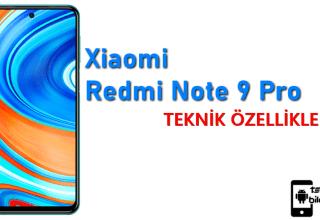 Xiaomi Redmi Note 9 Pro (128 GB) – Teknik Özellikleri