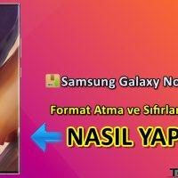 Samsung Galaxy Note 20 Ultra Format Atma Sıfırlama Yöntemi