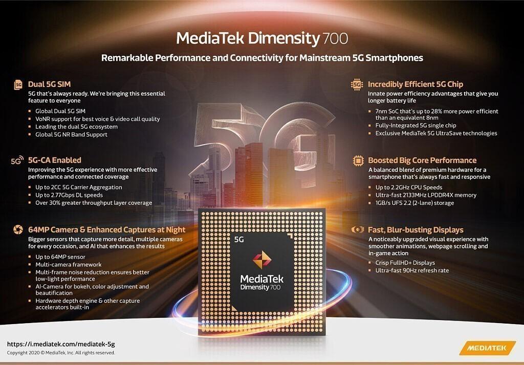 MediaTek, Dimensity 700 İşlemcisini Duyurdu 16