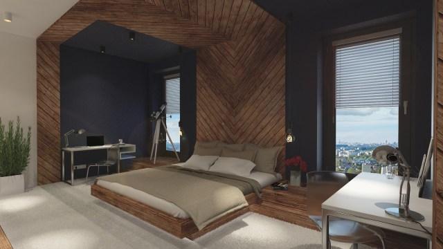 1 - Warszawa - Aura Sky | sypialnia z prywatną łazienką