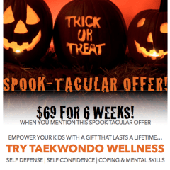 Halloween Safety Tips For Kids & Spook-Tacular TKD Offer