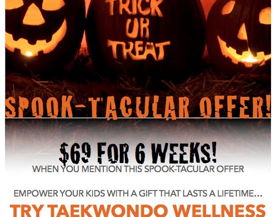 Halloween Safety Tips For Kids & Spook-Tacular TKD Offer