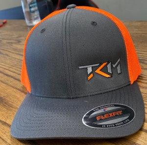 Charcoal/Neon Orange Flexfit Trucker
