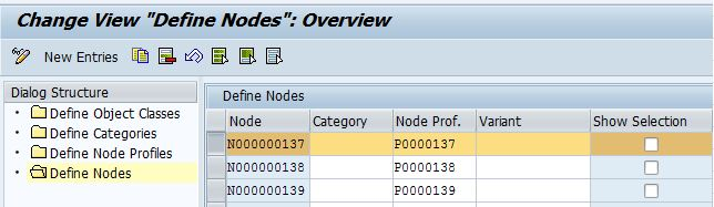 SAP EWM node profile