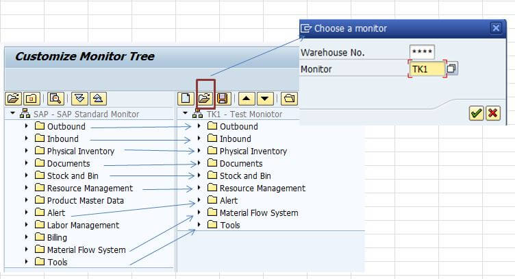 SAP EWM monitor create
