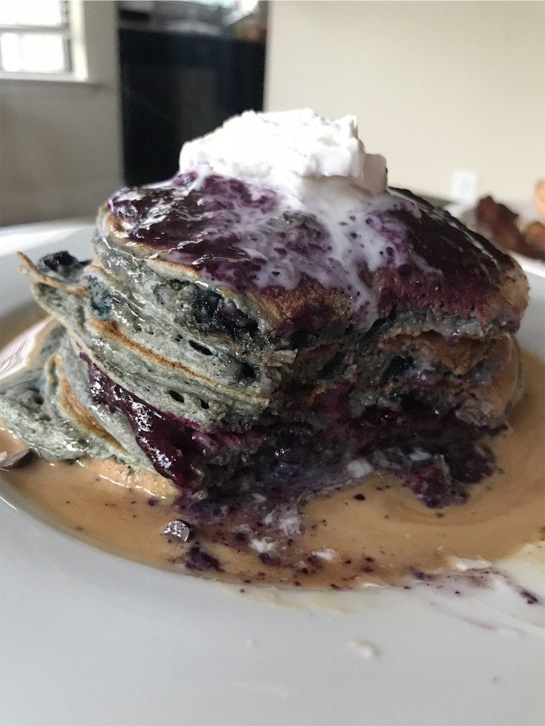Coconut Bluberry Pancakes