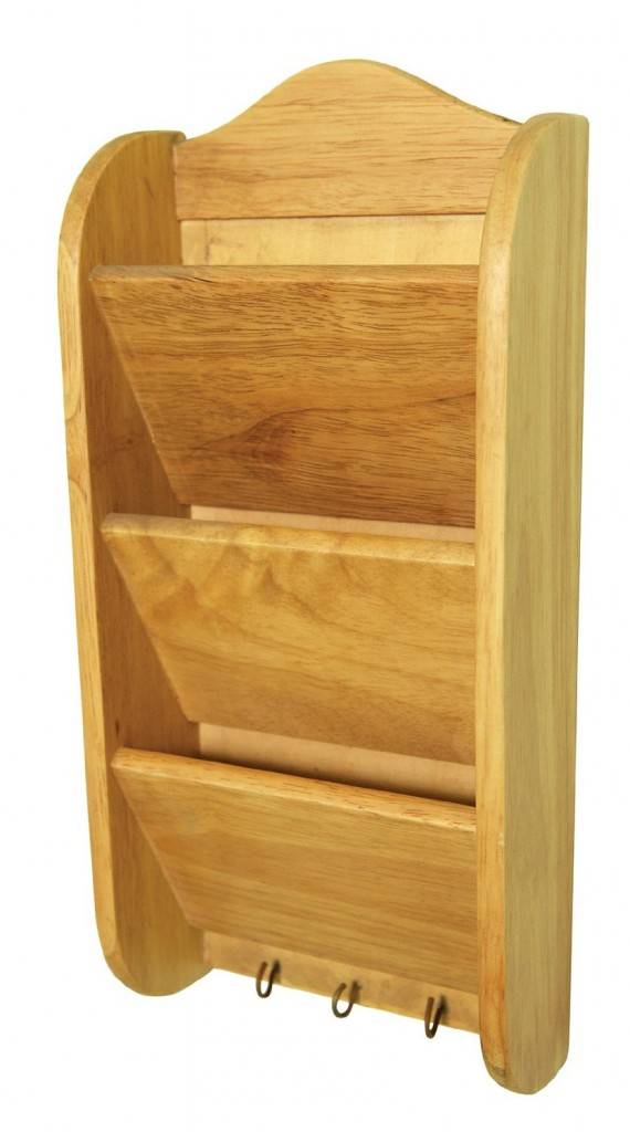 Mail Key Wooden Organizer And