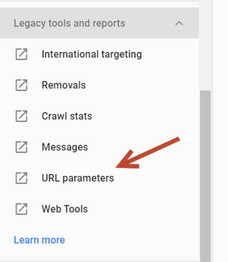 URL parameters in Old Google Search Console