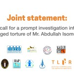 CSO call for a prompt investigation into the alleged torture of Mr. Abdullah Isomuso