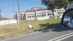 Doua persoane au fost rănite după ce o caruta a fost lovita de o autoutilitara. FOTO Facebook/Infotrafic jud. Tulcea