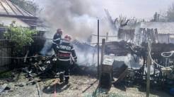 Incendiu urmat de explozie la Măcin. FOTO ISU Delta