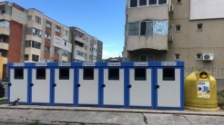 PLatformele de gunoi au fost schimbate parțial în municipiul Tulcea. FOTO Facebook/Andaluzia Luca