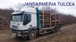 Prima captură mai serioasă de lemn ilegal a fost făcută de către jandarmii tulceni. FOTO IJJ Tulcea
