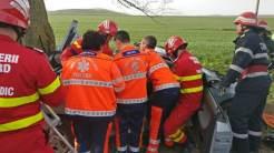 Două persoane au fost rănite într-un accident rutier lângă Nalbant. FOTO Isu Delta Tulcea