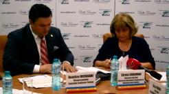 Vicepreședintele Consiliului Județean Tulcea, Dumitru Mergeani și secretarul de stat MDRAP, Sirma Caraman. FOTO Tlnews.ro