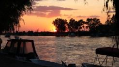 Apus de soare în Delta Dunării. FOTO Adrian Boioglu