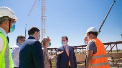 Ludovic Orban a vizitat podul șantierului peste Dunăre. FOTO Guvernul României