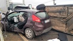 Trei răniți în urma unui accident rutier petrecut în localitatea tulceană Baia. FOTO ISU Tulcea