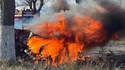 Pompierii militari au intervenit la accidentul rutier produs pe DN 22. FOTO ISU Tulcea