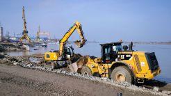 Stadiul lucrărilor la faleza și portul Tulcea. FOTO CJ Tulcea