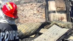 Incendiu la o pensiune din Crișan. FOTO ISU Tulcea