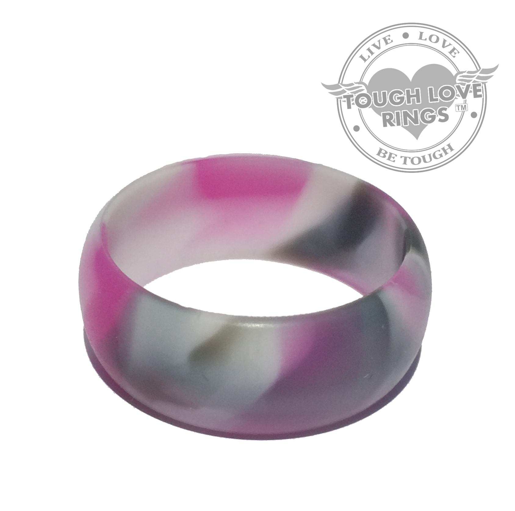 Camo PINK Silicone Ring Wide Band 87mm Tough Love Rings