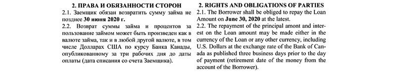 Tłumaczenie umowy kredytowej - tekst w 2 językach.